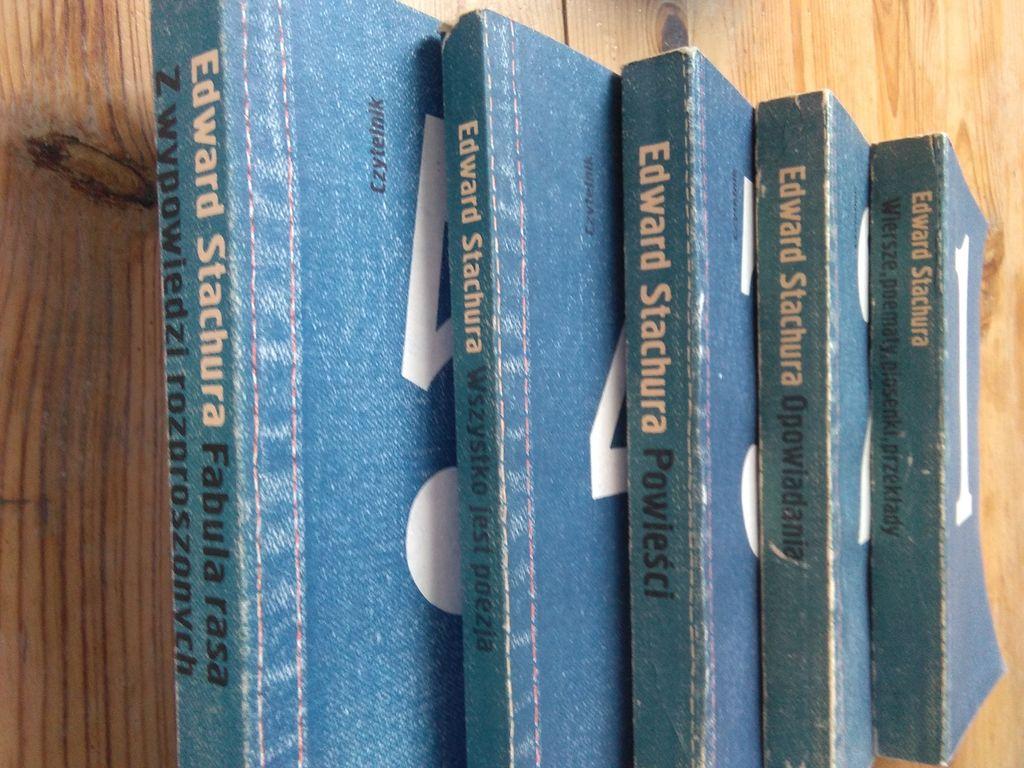 Edward Stachura – dzieła zebrane – słynna dżinsowa edycja