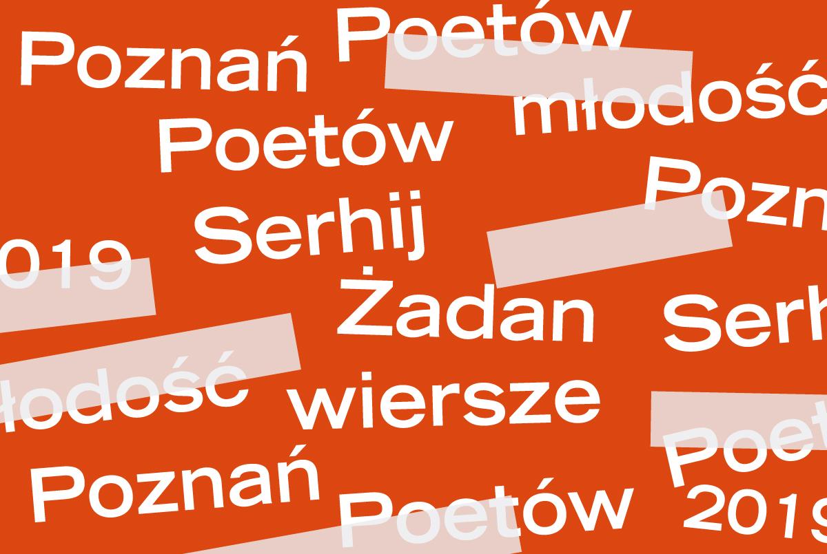PP 2019: Serhij Żadan - trzy wiersze - ZamekCzyta.pl