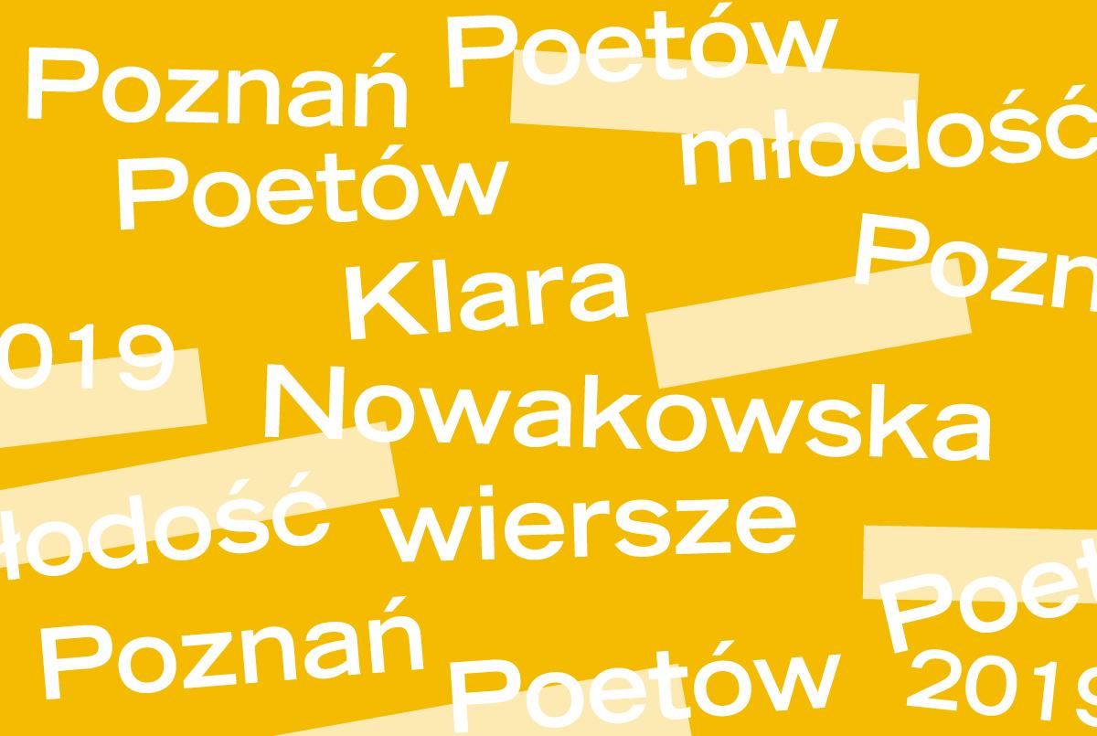 PP 2019: Klara Nowakowska - trzy wiersze - ZamekCzyta.pl
